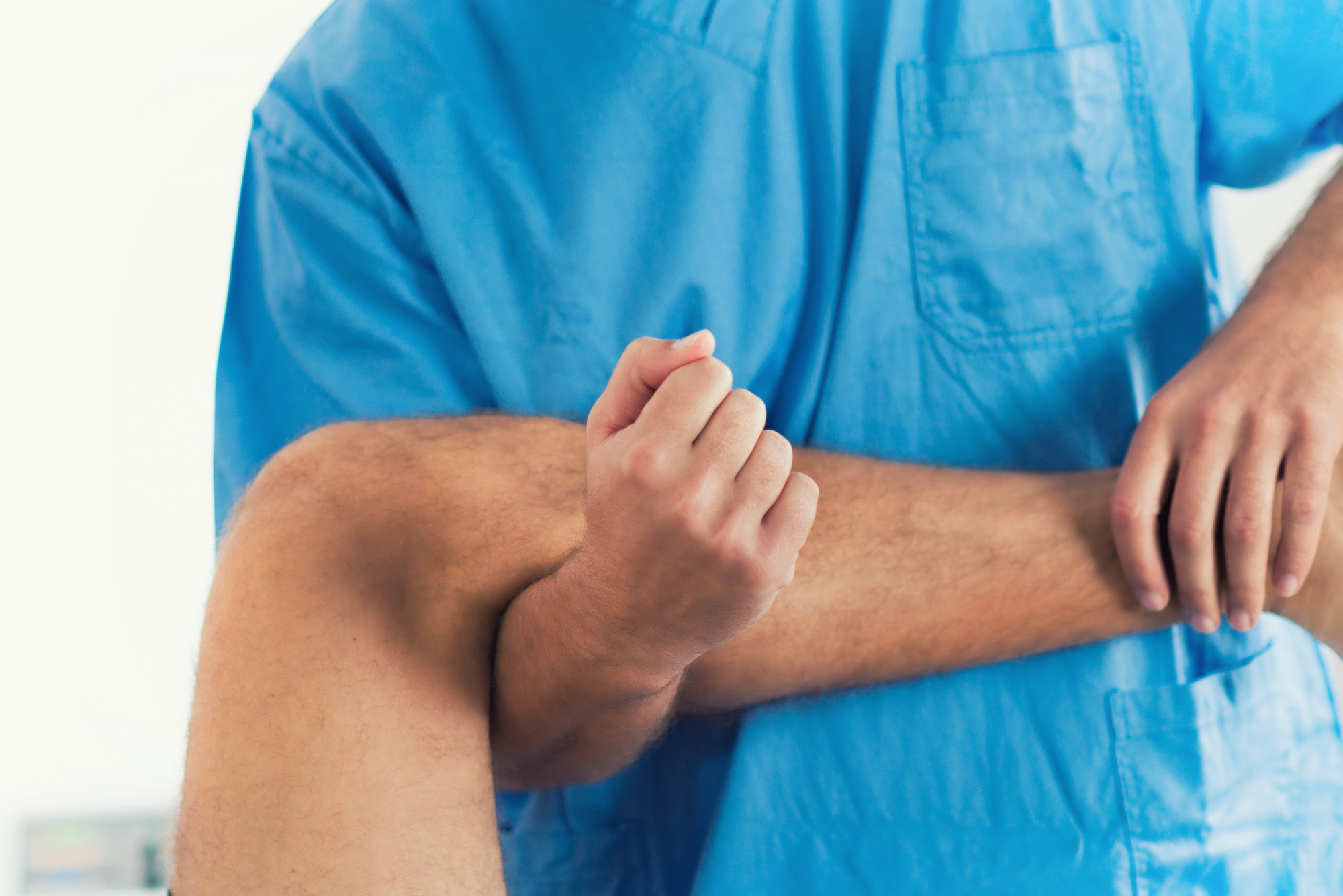 Chiropractic leg adjustment
